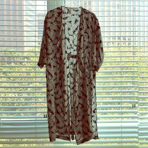 Long Pineapple Print Robe
